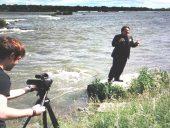 Pierre Blanchet, prsident d'Idnergie, lors du lancement de l'hydrolienne