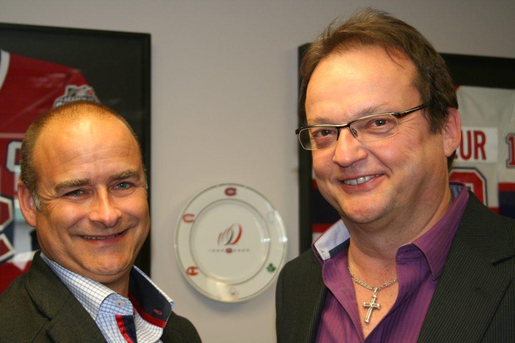Hughes Valle (g) et Yves Rouseau