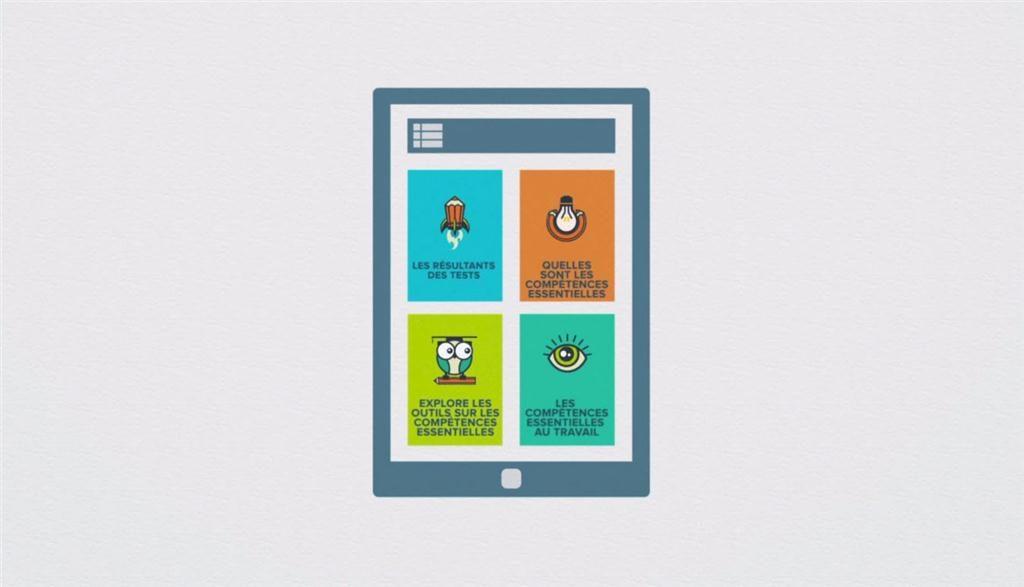 Application mobile des comptences essentielles (Photo : CNW/SCC)