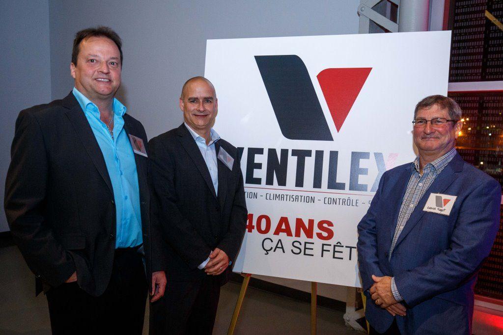 Yves Rousseau, prsident; Hughes Valle, directeur gnral; et Gabriel Ragot, ancien prsident (1981-2005)